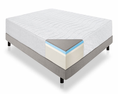 LUCID-16-Inch-Plush-Memory-Foam-and-Latex-Mattress---King