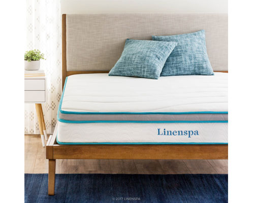 LinenSpa-8-Memory-Foam-and-Innerspring-Hybrid-Mattress,-Twin