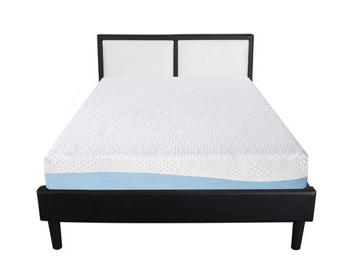 Olee-Sleep-10-Inch-Gel-Infused-Layer-Top-Memory-Foam-Mattress-Blue---Full